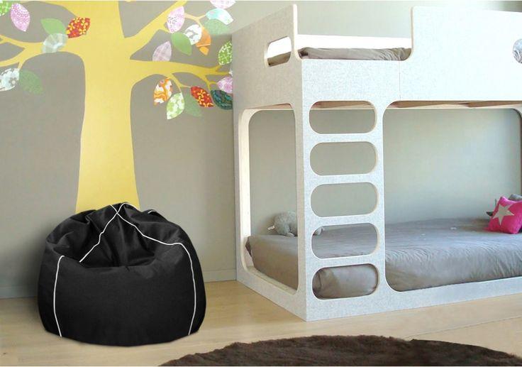 Kid Fekete Babzsák  #beanbag #babzsákfotel #babzsák #design #interior #style