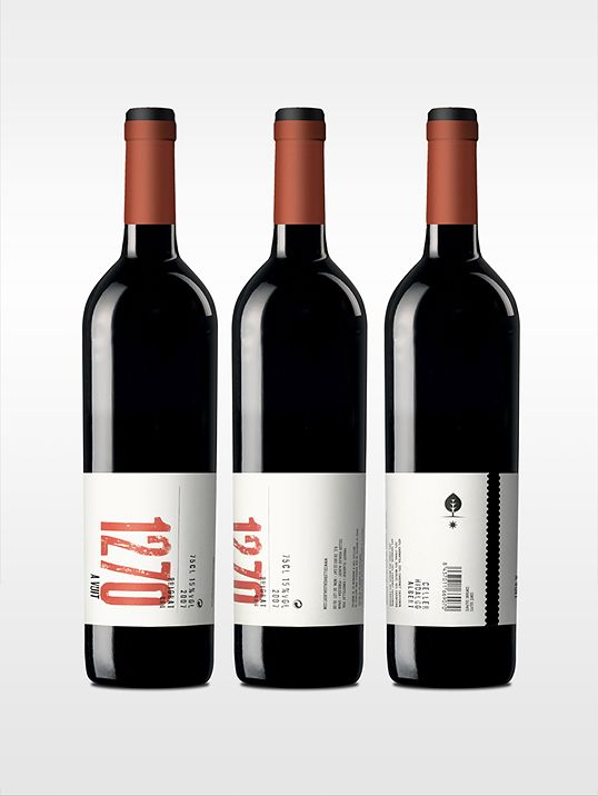 wine bottle design with special label finish
