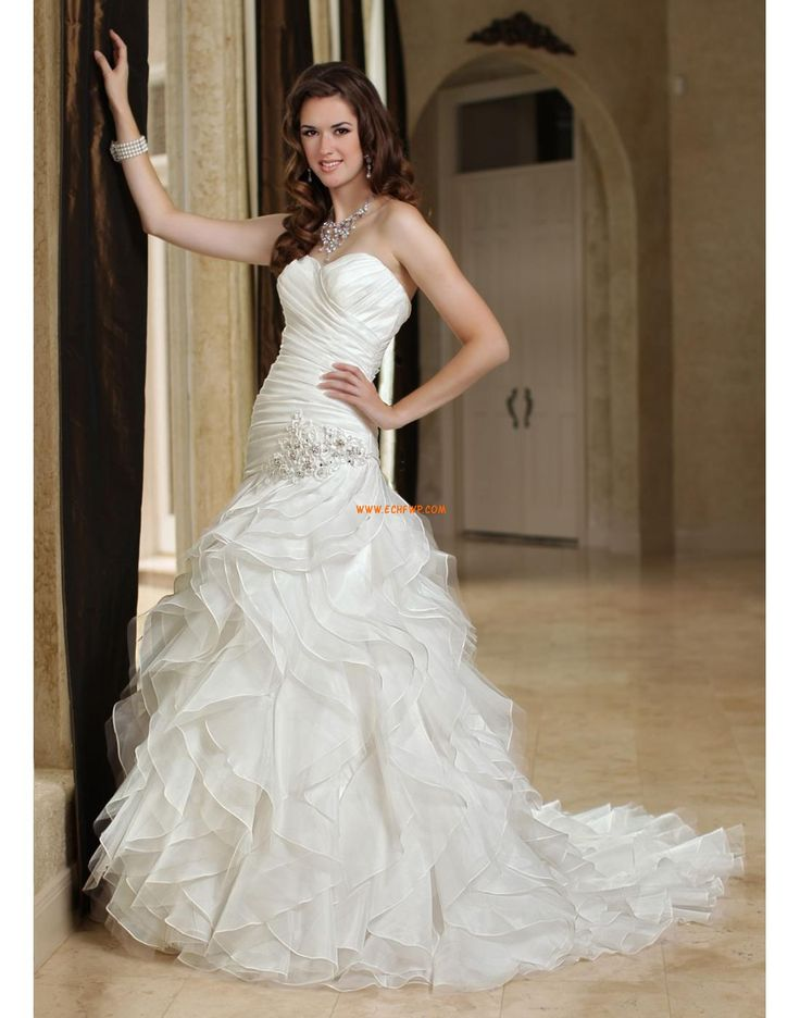 Church Trumpet/Mermaid Glamorous & Dramatic Wedding Dresses 2014