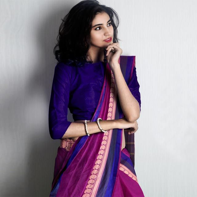 Shop beautiful traditional pure Chettinad Handloom cotton sarees from Tamil Nadu at Unnati Silks | Exclusive checks sarees, traditional woven temple borders, plain and hand block printed sarees | Custom Stitching, 24 hrs dispatch, Free express shipping