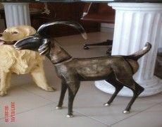 Puppy Goat Statue