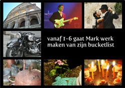Uitnodiging voor pensioenfeestje met bucket list / Invitation for retrirement party with bucket list