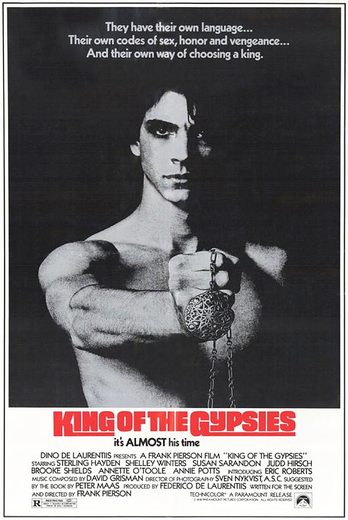 King of the Gypsies, Frank Pierson, 1978. An oddball and fairly uncatergorisable film, this... Sumptous lighting and set pieces. It's basically a cross between Goodfellas, Romeo and Juliet with caravans...