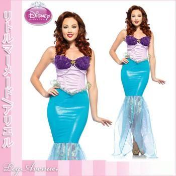 アリエル/ディズニーリトルマーメードのプリンセスアリエルコスチュームドレスワンピース【レッグアベニューハロウィンコスチューム】 Disney little Mermaid Ariel Princess Costume