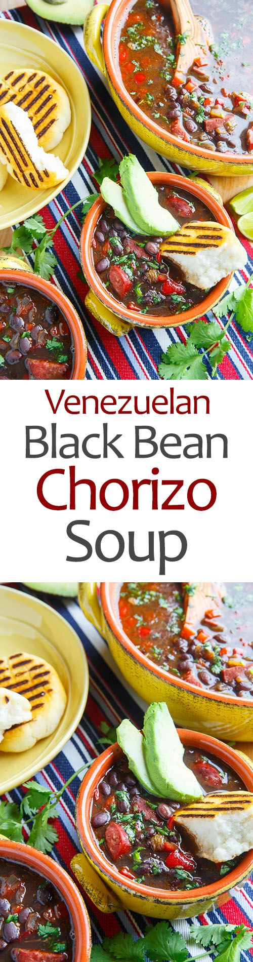 Venezuelan Black Bean and Chorizo Soup | - It definitely needs the splash of lime juice and the sweetness of the molasses. That adds the perfect umami to this soup.