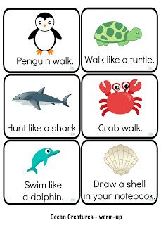 sea, ocean, water, underwater, animals, English, jigsaw, puzzle, vocabulary, classroom, game, quiz, actions, warm-up