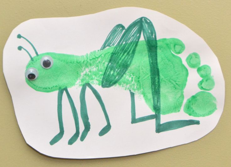 Insect Crafts - Grasshopper