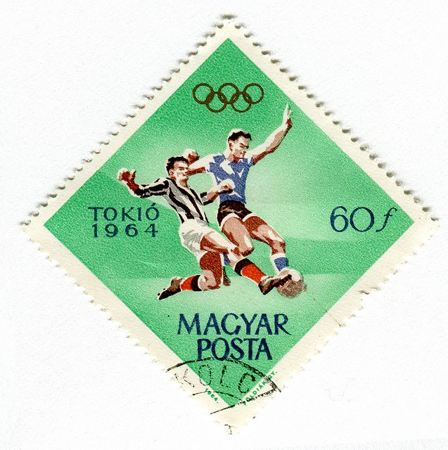 Magyar Posta Stamp: Olympic Soccer. 1964