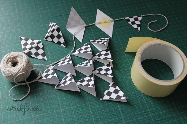 Rennfahrersuppe mit Zielflagge