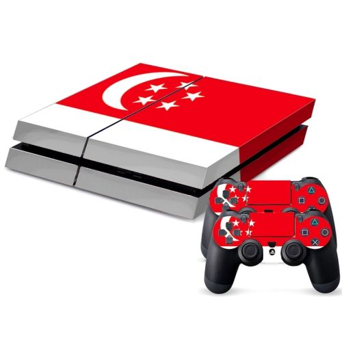 [$4.38] Singapore Flag Pattern Decal Stickers for PS4 Game Console