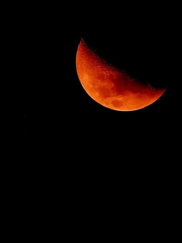 Orange Moon-Black sky