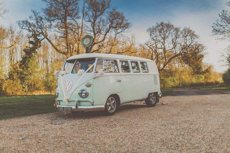 Travelling in style. Photo by Benjamin Stuart Photography #weddingphotography #weddingtransport #vwcamper #wedding