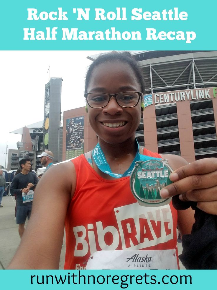 Check out my recap of the Rock 'N Roll Seattle Half Marathon - it was my first trip to Seattle! Find more race recaps at runwithnoregrets.com!