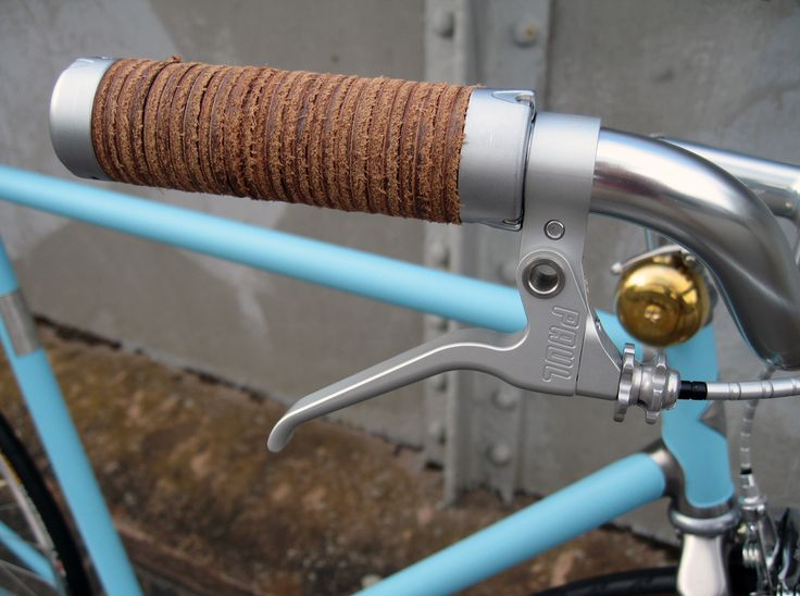 Brooks England Plump Grip on Vickers Bicycle Co's Sundown Town. Inspired by Richard James.