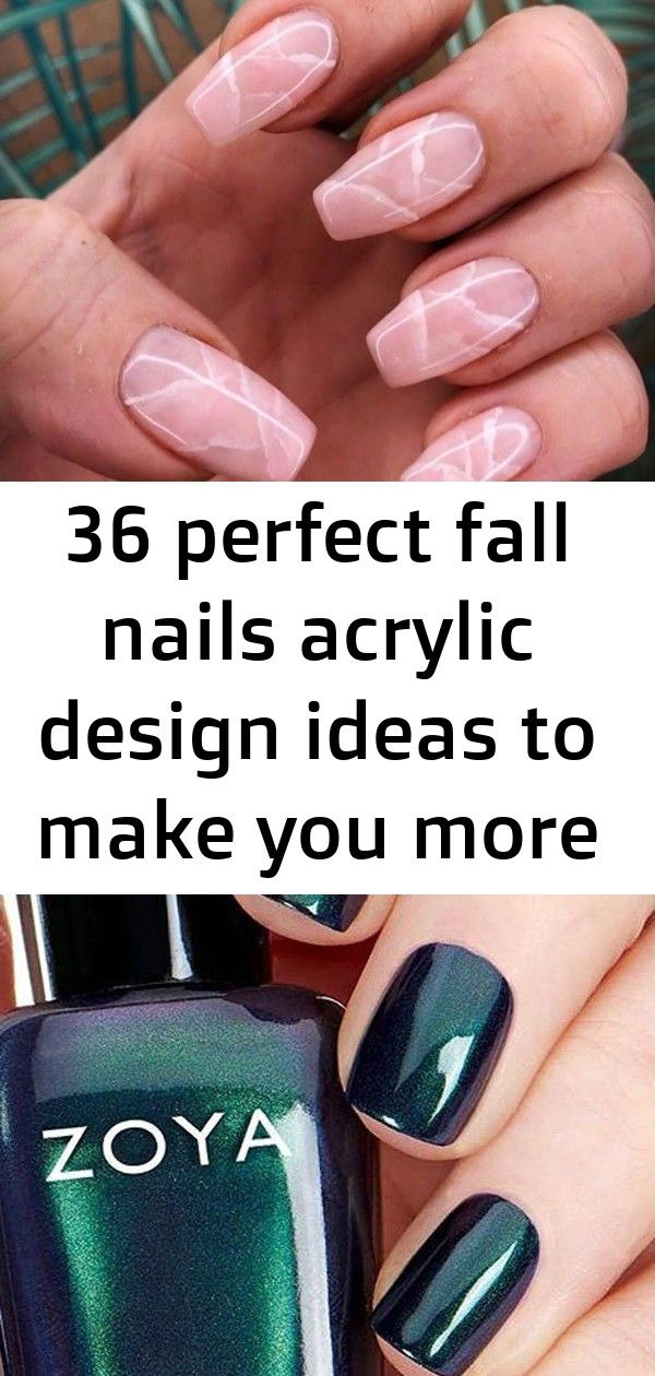 36 Perfect Fall Nails Acrylic Design Ideas To Make You More Beautiful 5 Nails Acrylic Nail Designs Acrylic Designs