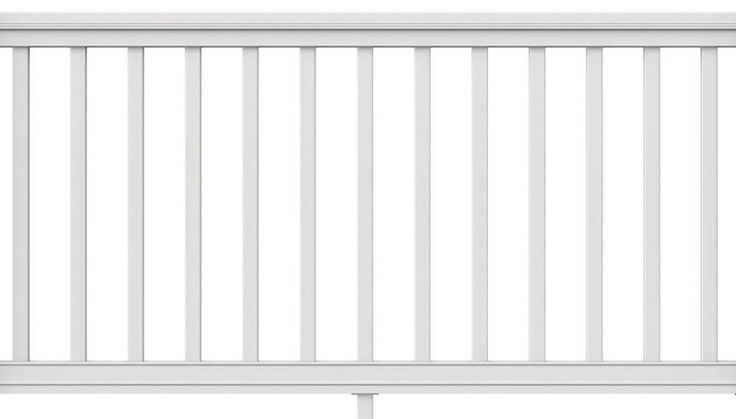 Veranda 6 ft. x 36 in. Pro Rail White Handrail Outdoor Garden Patio Safety Kit #Veranda #HandRail #Rail #Indoor #Outdoor #Safety