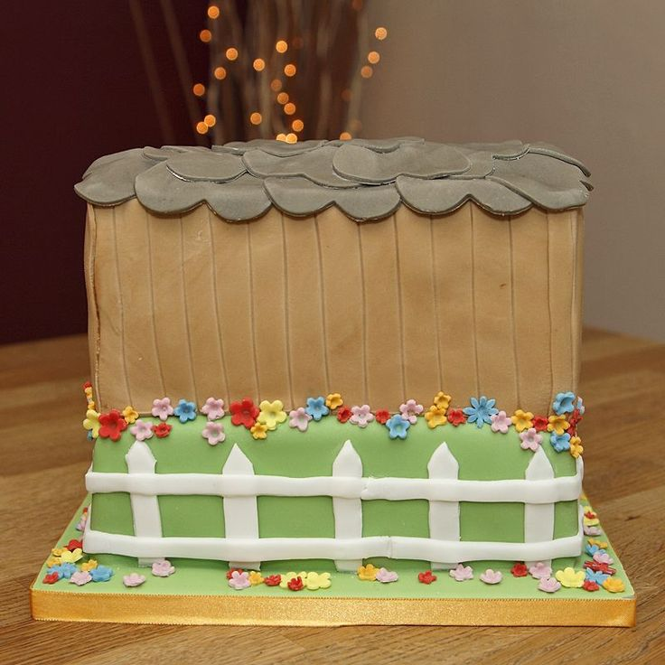 2 Tier Horse Stables Cake with handmade fondant horses & apple barrel