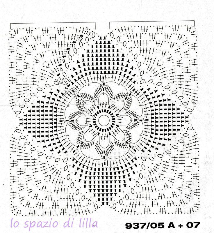 63 fantastiche immagini su piastrelle uncinetto su - Piastrelle esagonali uncinetto ...