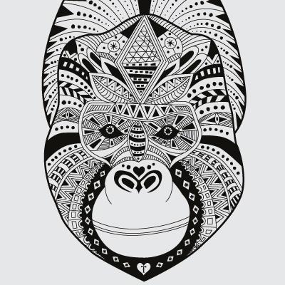 www.215.dk #215.dk #ink #drawing #pattern #poster #inca #animals #interior #design #ape #gorilla #design