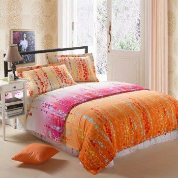 The Teens Bedding Sets is fun and fresh style. This pink and orange bedding sets is construction of lightweight materials and high end fabrics create a flowing, soft and breathable. This country bedding sets brings a breath of air new life into any bedroom. Surround yourself in elegance and a contemporary feel with this bright bedding sets.