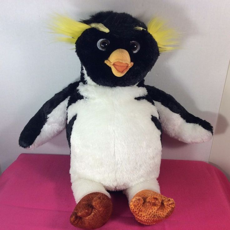 BUILD-A-BEAR Plush Cody Maverick Surf's Up PENGUIN Stuffed Animal Black/White #BuildaBear #AllOccasion