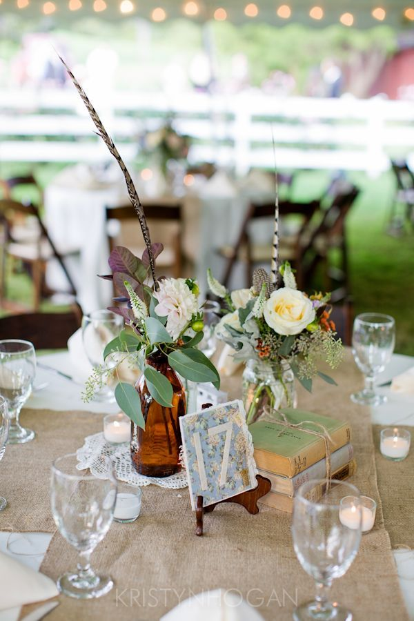 flowers and books... this entire wedding is what you're looking for