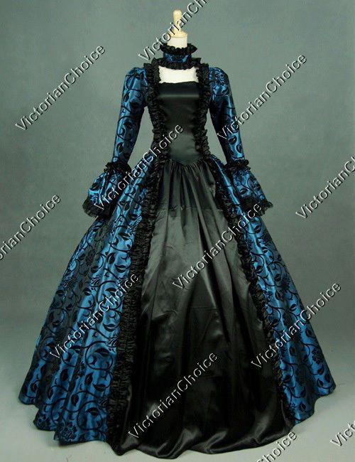 Gothic Victorian Georgian Period Dress Reenactment Clothing Gown Steampunk 119 | eBay