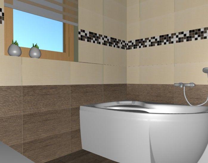 Fürdőszoba látványterv Zalakerámia  csempével