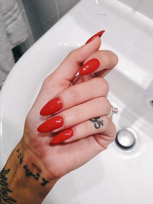pretty red mine quote Cool dope skinny perf want hand tattoo nails ...