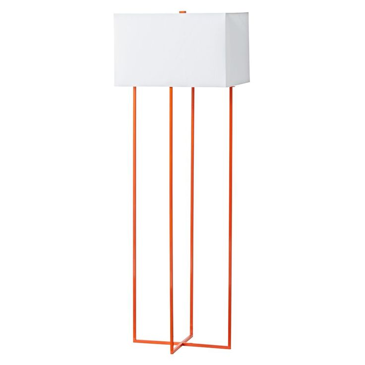Pop Wire Orange Floor Lamp | The Land of Nod | Visit www.modernfloorlamps.net for more inspiring images and decor inspirations