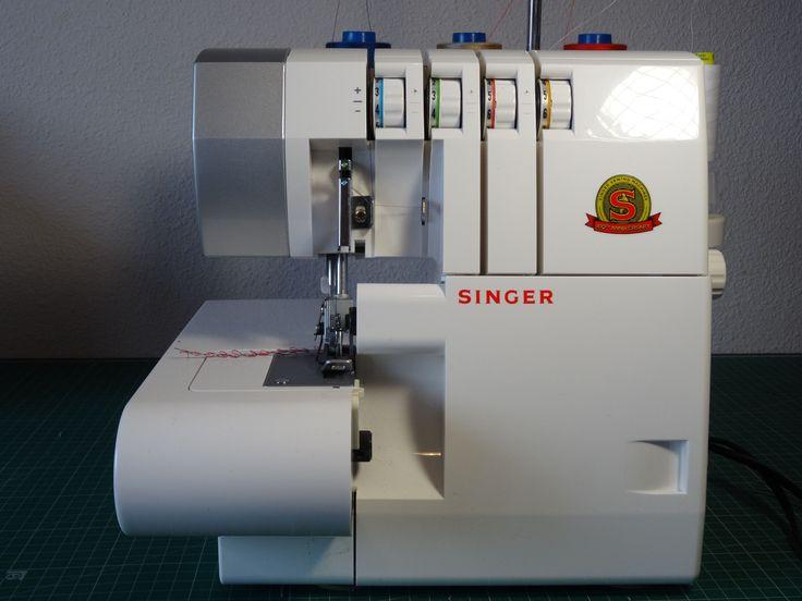 Primeros pasos remalladora overlock  Singer 14SH754
