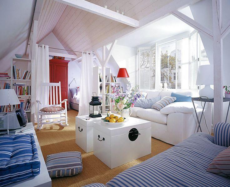 skandinavischer stil im dachgeschoss - Stil Wohnung