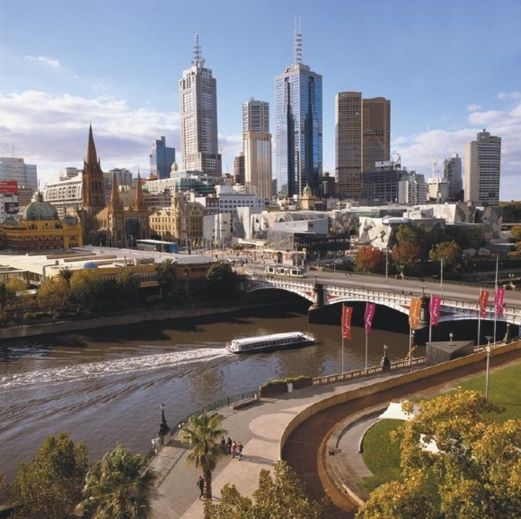 melbourne australia city skyline