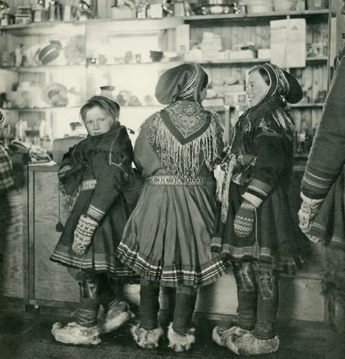 Unidentified Saami children