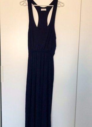 Kup mój przedmiot na #vintedpl http://www.vinted.pl/damska-odziez/dlugie-sukienki/16690977-maxi-granatowa-sukienka-na-lato