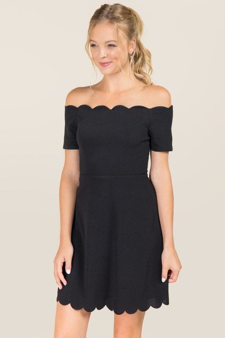 Killian Scallop Edge A-Line Dress