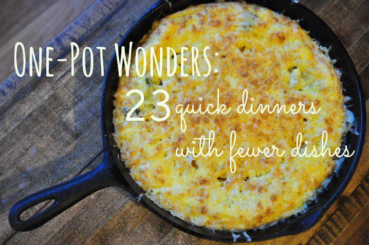 One Pot Wonders Recipes for those crazy night during the week!!! Will try to make them into bag freezer meals...
