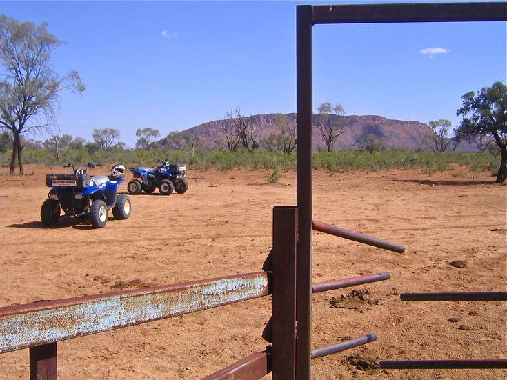 4 wheeling in the Australian Outback outside of Alice Springs