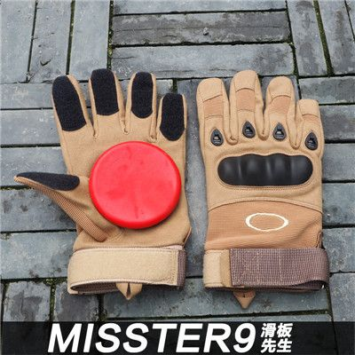 Skateboard/Longboard Slide Gloves Breathable Protecive Gloves Pads with Palm Professional Slider Dowhill Protection Gloves Gear