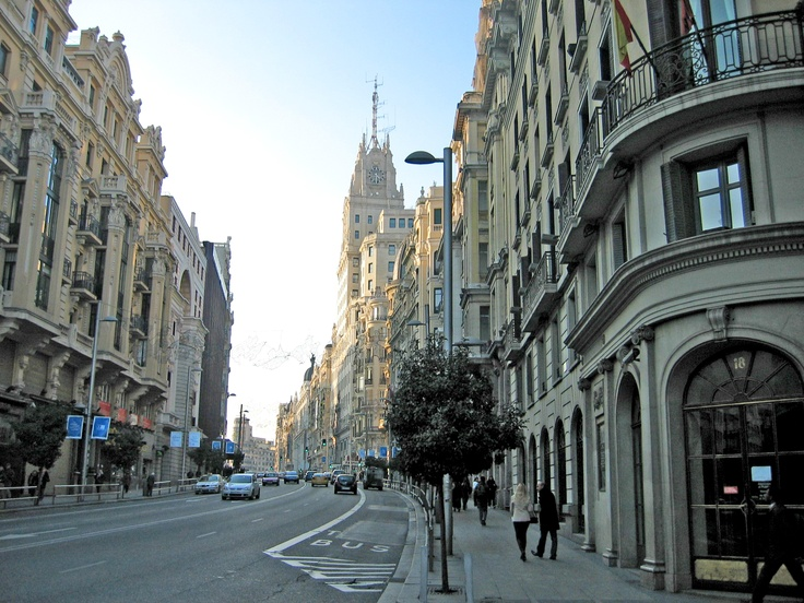 Gran Vía, Madrid- would love to go to Madrid