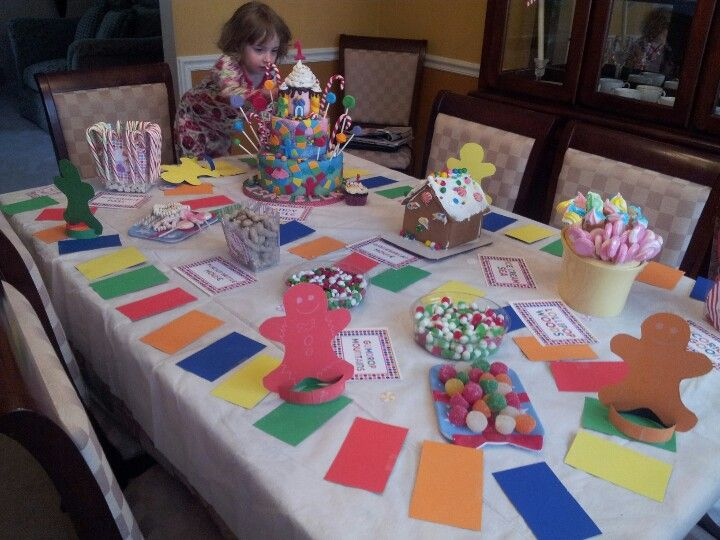 Candyland board game table decor