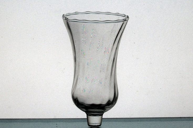 Home Interiors Peg Votive Candle Holder Swirled Pattern Clear OOS