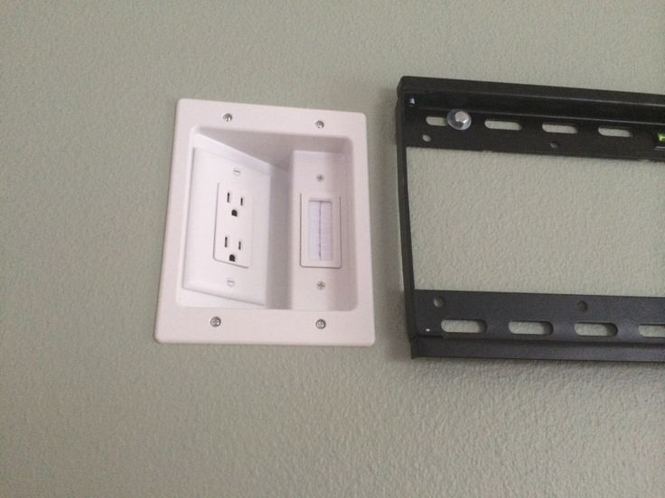 Recessed Outlets for behind the TV