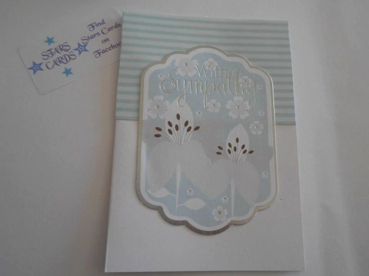 Hand made SYMPATHY card by StarsCards1 on Etsy