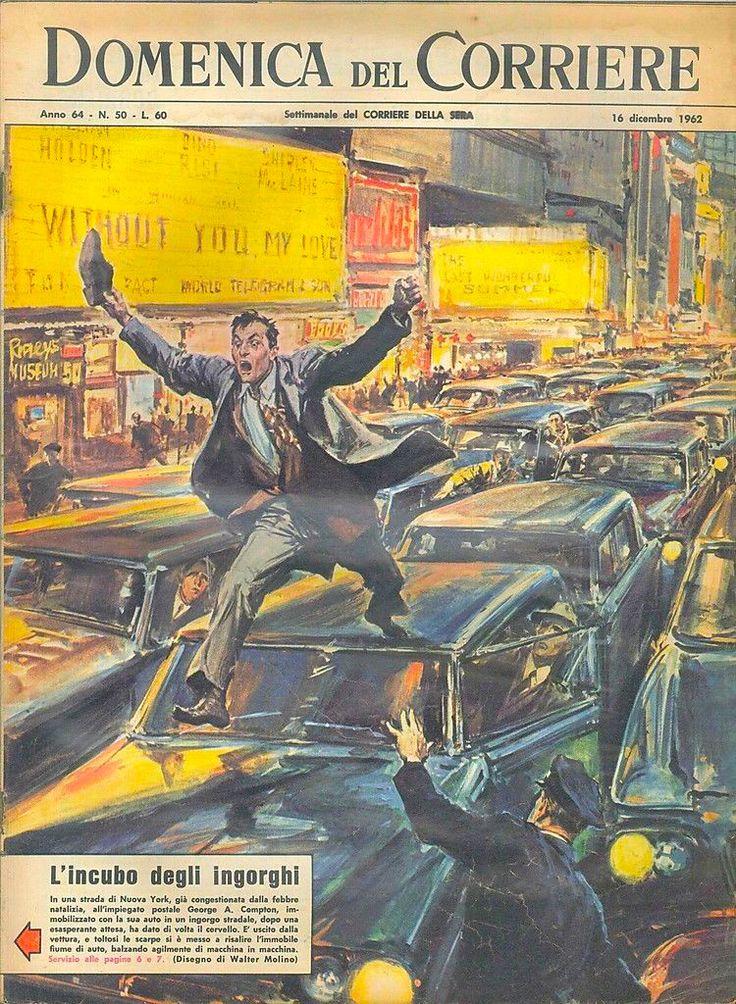 La copertina della Domenica del Corriere del 16 dicembre 1962, n. 50.