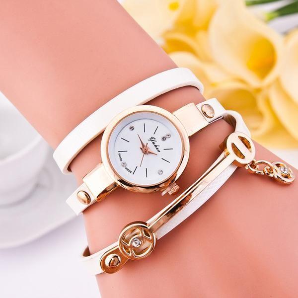 Mance New Fashion Style Leather Casual Watch Wristwatch Women Dress