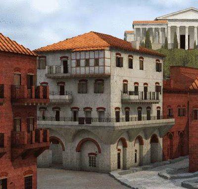 Models of Roman apartments in Ostia