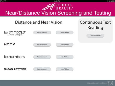 iPad App for Near/Distance Vision Screening and Testing from School Health now available in the App Store! #ipad #visionscreening #schoolnurse