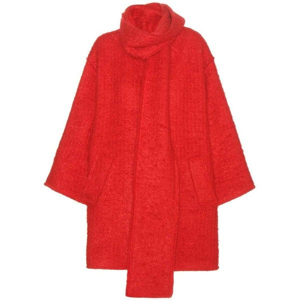 Dolce & Gabbana Wool and Mohair-Blend Coat ($1,550) ❤ liked on Polyvore featuring outerwear, coats, coats & jackets, jackets, red, woolen coat, dolce gabbana coat, wool coat, red coat and dolce&gabbana