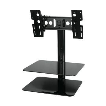 TV mount with shelf